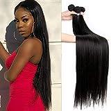 10A Human Hair Straight Bundles Brazilian Virgin Straight Hair 3 Bundles 100% Unprocessed Weave Hair Human Bundles (20 22 24)