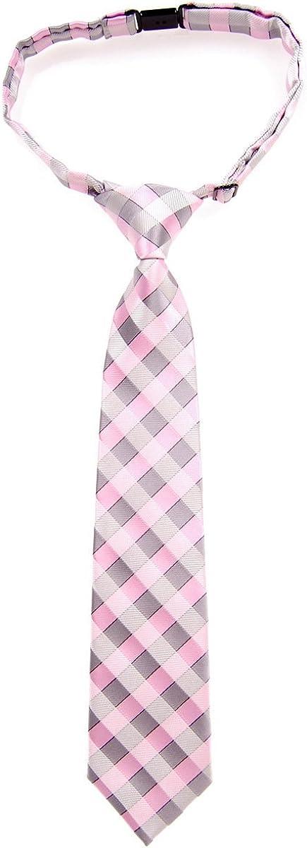 Retreez Classic Check Woven Microfiber Pre-tied Boy's Tie