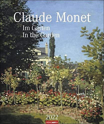 Claude Monet Im Garten Kalender 2022 - Kunstkalender mit internationalem Monatskalendarium - 12 Kunstwerke - 46 x 55 cm