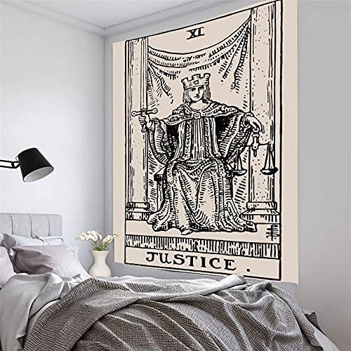 PPOU Mandala Tarot Card Tapiz Colgante de Pared Sol Luna Tapices Astrología Brujería Adivinación Alfombra de Tela Decoración de la habitación del hogar A11 150x200cm
