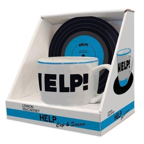 Bluw Lennon & Mccartney Mug and Saucer-Help, Centimeters