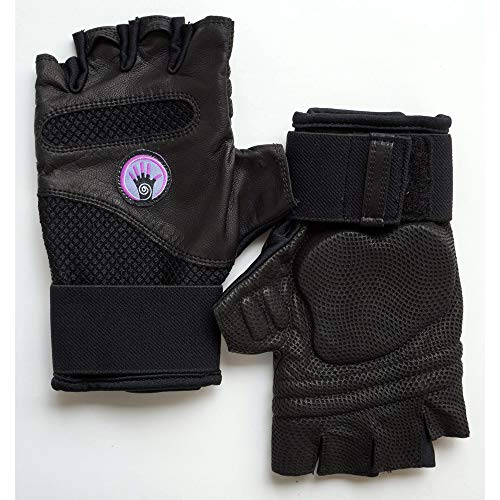 Wrist Assured Gloves Fusion Style - Gel Padded Gloves, Workout Gloves with Wrist Support, Yoga Gloves, Strength Training Gloves (Small)