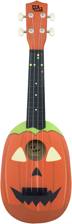 "HAPPY LEMON Specialise in educational music toys Beautiful Interesting 21""Wooden Ukulele Kids Musical Instrument Beginner Kids musical toys professional musical instruments ( color   orange )"
