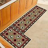 OPLJ Alfombrillas de Cocina con impresión de celosía Moderna, alfombras de Entrada para Dormitorio y Sala de Estar, alfombras Antideslizantes para baño A10 40x120cm