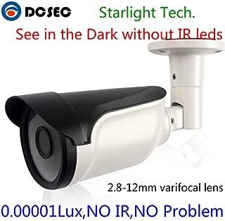 HD 700TVL 960H Low Light Starlight Full Color Night Vision Analog CCTV Bullet Camera Zoom Varifocal Lens 2.8-12mm Outdoor Water-Proof