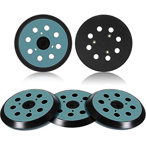 5 Pieces 5 Inch 8 Hole Replacement Sander Pad 3 Eye Hook and Loop Sander Pad Sanding Backing Plates Compatible with & Makita