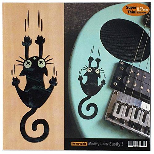 potente para casa Pegatinas con incrustaciones de guitarra y bajo-Rip Slip Cat-Black Pearl, B-300RC-BP