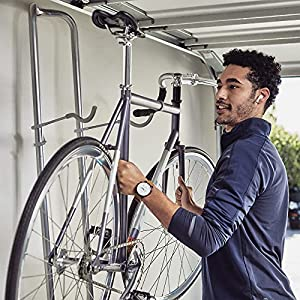 """delta Cycle & Home Michelangelo Two-Bike Gravity Stand Silver, 86"""" x 23.5"""" x 13.75"""""""