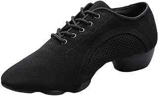 Inlefen Men Soft Split Rubber Sole Solid Color Wear Resistant Latin Sneakers