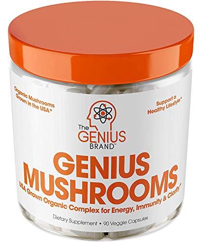 Genius Mushroom – Lions Mane, Cordyceps and Reishi – Immune System...