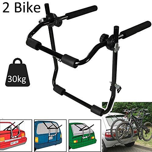 HEWXWX Auto 2 FahrradträGer Heckklappe Heckklappe FahrradträGer Passend - Lastlager 30kg Langlebig Und Leicht | Einfach Zu Montieren | Geeignet FüR Die Meisten Modelle