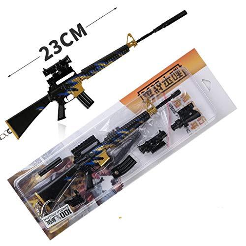 LINLUO 1/6 Escala Metal Mini M16 Rifle Modelo Llavero Figura de Acción Artes Juguetes Regalo Mochila Colgante Suministros de Fiesta
