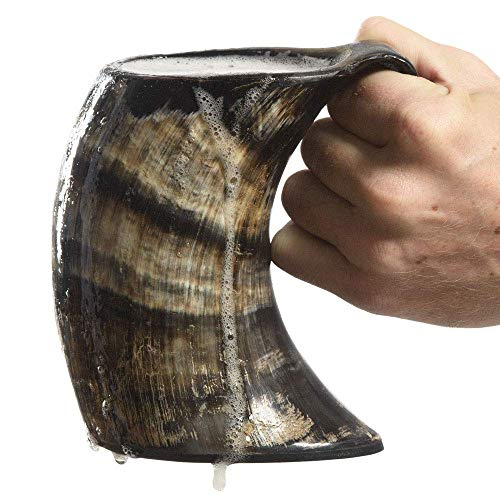Ale Horn Drinking Horn Tankard with Handle- L
