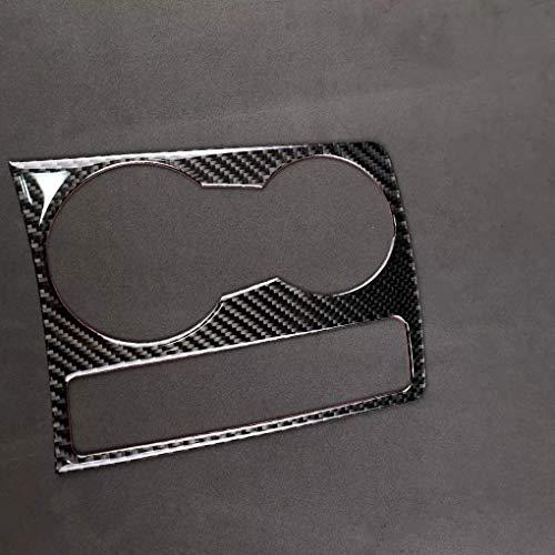 LBLDD Cubierta del panel del soporte de la taza, etiqueta engomada del ajuste de la fibra de carbono adhesivo de la superficie reflectante reemplazo para A5 A4 B8 2009-2015
