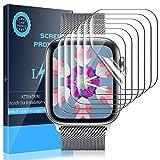 LK 6 Stück Schutzfolie für Apple Watch Series 5/4 40mm & Series 3/2/1 38mm Folie, [Kompatibel mit Hülle] [Blasenfreie] Klar HD Weich TPU Bildschirmschutz