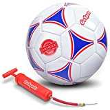 GoSports Premier Soccer Ball with Premium Pump,...