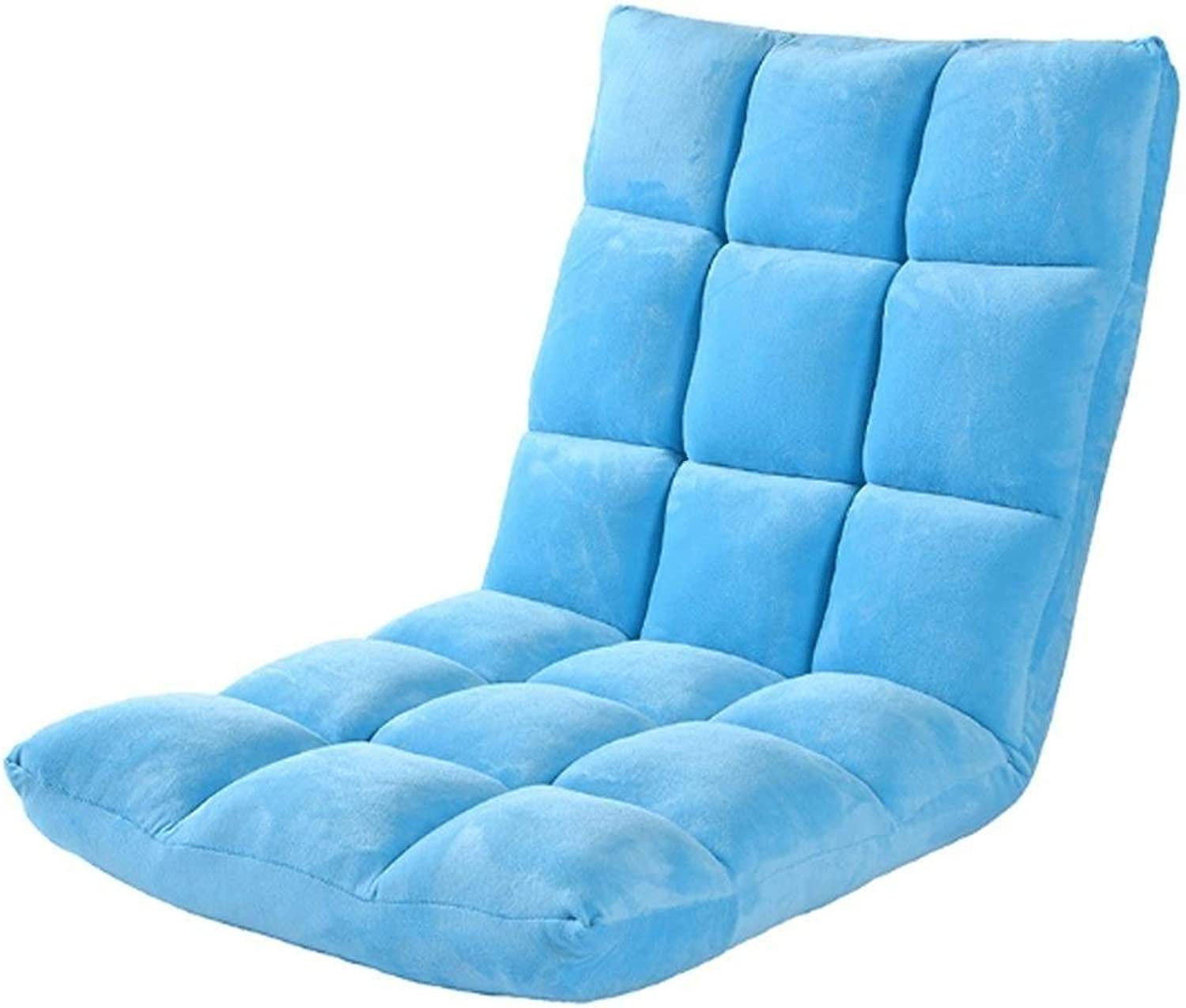 RUIMA Plaid Single Sofa Foldable Tatami Chair Small Sofa Bed Lazy Couch Window Leisure Sofa (color   bluee)
