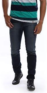 Calça Jeans Masculina Escura Estonada Slim com Lycra