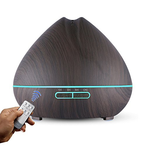 Lowest Prices! Large Capacity Essential Oil Diffuser 500ml with Remote Control Ultrasonic Cool Mist ...