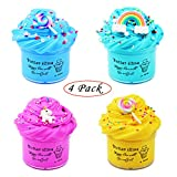 Elover Butter Slime Party Favor Non-Sticky Cotton Slime Stress Relief Toy Scented DIY Sludge Putty Toy( 4 Colors)