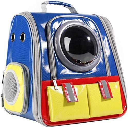 FQCD Haustier-Rucksack-Fördermaschine atmungsaktive wasserdichte Raumkapsel tragbarer Premium-Rucksack (Color : Blue)