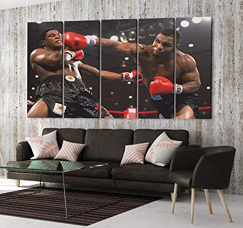 Mike Tyson Boxing Canvas Art Wall Art Home Decor (5 Piece Mega)