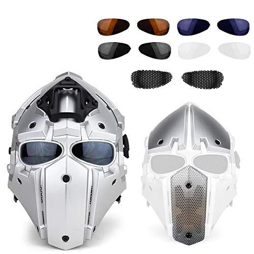 LHY HELMET Taktischen Outdoor Motorrad Full-Covered Helm mit Maske Schutzbrille für Jagd Paintball Military Cosplay Movie Prop,Terminator
