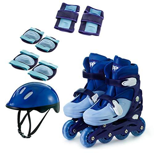 Kit Patins In Line Ajust Az 30-33 Mimo Style Azul