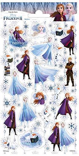 TrendyMaker Disney Frozen 2, Eiskönigin 2, Sticker, Aufkleber - 45 Glitzer Sticker, passend für Tagebuch, Freundebuch, Schultüte, Adventskalender, Mitgebsel ....