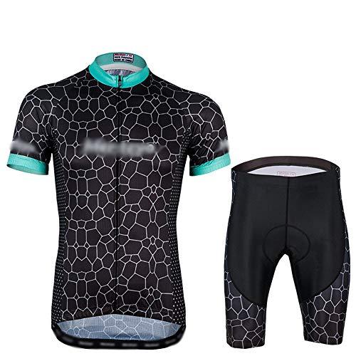GONGMICF Maillot Ciclismo Corto De Verano para Hombre,Transpirable Ropa Ciclismo,Jersey + con...