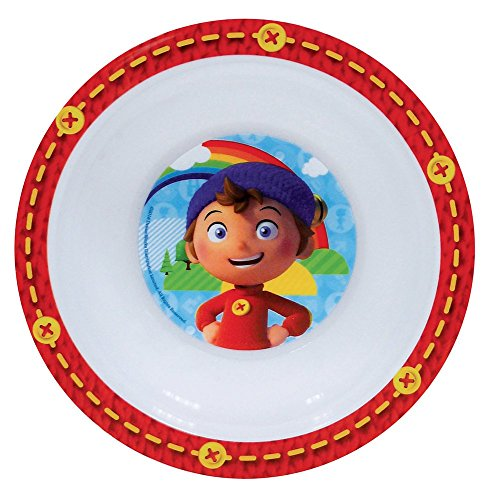 FUN HOUSE 005346 Oui Bol Micro-ondable pour Enfant, PP, Rouge, 16 x 16 x 4 cm