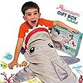Shark Tail Animal Blanket for Boys. Soft Plush Shark Sleeping Bag Blanket for Kids. Blankie Fun Fin Gray Sleeping Bag. Snuggle Double-Sided Minky Fabric Throw. Warm and Cozy Gift for Boys Kids