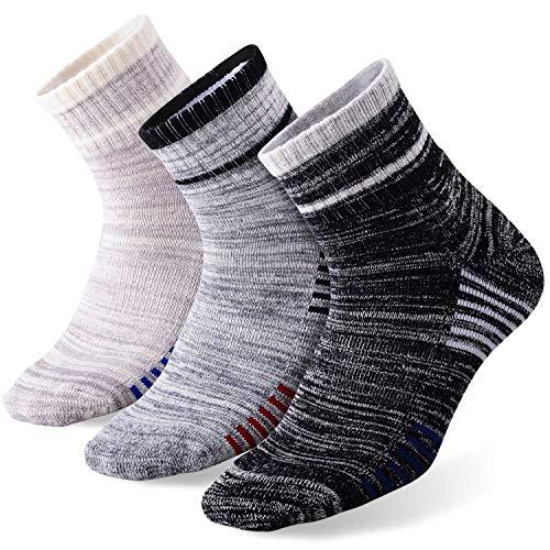 FEIDEER Multi-pack Outdoor Recreation Men's Hiking Walking Socks Wicking Cushioned Crew Socks