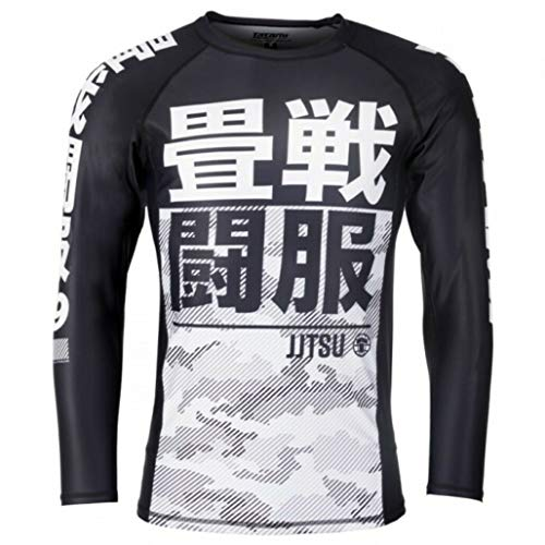 Tatami Fightwear Essential Camo Long Sleeve Rash Guard White - For Men - Fitness Jitsu Gym MMA Crossfit-s