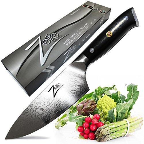 Zelite Infinity Chef Knife 6 Inch - Alpha-Royal Series - Japanese AUS-10 Super Steel 67-Layer Damascus - Razor Sharp, Superb Edge Retention