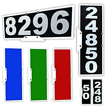Vertical or Horizontal Mailbox Address Plaque Reflective 911 Plate Most Visible Mailbox Address Marker Money Can Buy!