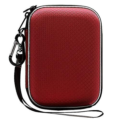Lacdo Custodia Hard Disk Esterno per Western Digital WD Elements WD My Passport WD My Passport Ultra WD Black P10 Toshiba Canvio Basics 1TB 2TB 3TB 4TB 5TB, 2,5 Pouces Antichoc Pochette Portable,Rosso