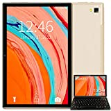 Tablet 10 Pulgadas Android 10.0 Tableta Ultra-Portátiles - RAM 4GB | 64GB Expandible (Certificación Google gsm) -AOYODKG - Batería de 8000mAh - WiFi —Ratón | Teclado y Otros - Dorado
