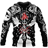 BEAUTIFUL VIKINGS TATTOO 3D Unisex All Over Printed Lightweight Premium Sportswear Hoodie ,T Shirt, Zip Up Hoodie ,Sweatshirt Outdoor Hawaiian,Polo,Tanktop