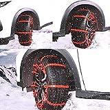 YHtech 10pcs Antideslizante Fango de la Nieve del neumático Rueda de Coche Cadena de Nieve del neumático de Rueda for SUV Exterior Offroad Accessries de Coches