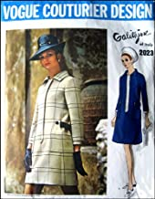 Vintage 1960s Mod Vogue Couturier Design Pattern By Galitzine of Italy Number 2023