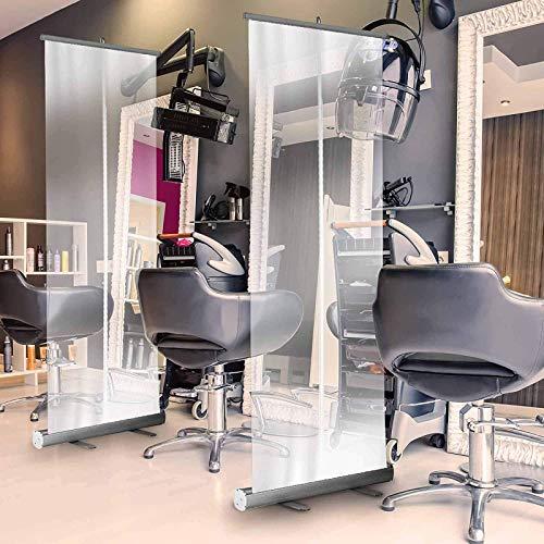 Hygieneschutz Rollup Spuckschutz Plexiglas Stellwand, Mobile Trennwand, Spritzschutz, Distancing Screen, Aus Schreibtisch, Tisch, Zähler 1000mmX2000mm