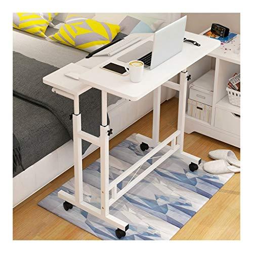 GUOQING Laptopwagen Laptop Schreibtisch Für Schlafzimmer, Wohnzimmer, Sofa Leicht Und Flexibel Laptopständer Pflegetisch (Color : White)