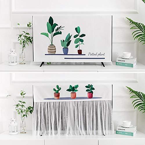 catch-L Colgar En La Pared Curvado Vertical Plano Cubierta De Polvo Cubierta De TV Cubierta Antipolvo (Color : White, Size : 65inches)