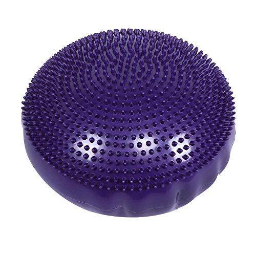 DyniLao Purple Soft Yoga Balance Board Disc Gimnasio Estabilidad Cojín de aire Fitness Yoga Mat Estera de masaje sin bomba de inflado