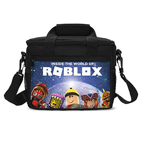 Bonamana Lunch-Tasche für Kinder und Erwachsene, isoliert, Kühltasche, Picknicktasche, Schule, Lunchbox, Aufbewahrungsbox, Lunch-Tasche (Roblox-1)