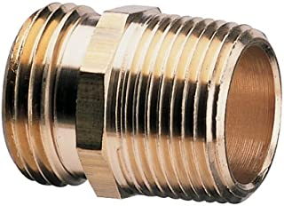 Nelson 855714-1001 Industrial Double-Male Brass Pipe and Hose Fitting for Connecting to 3/4-Inch, Female