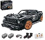 KEAYO Modelo de coche deportivo para Ford Mustang, de tecnología RC grande con motores de buggy, bloques de montaje compatibles con la técnica Lego.