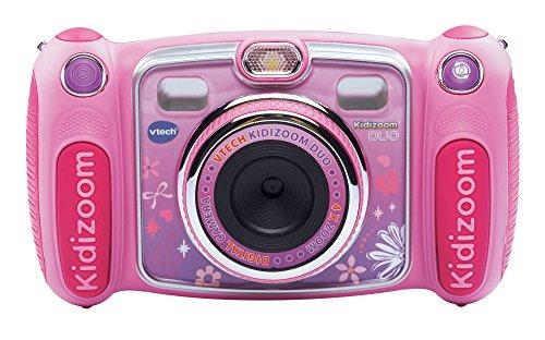 VTech - Kidizoom Duo cámara Digital para niños, Color Rosa, versión Inglesa (170853) - [Importado de Inglatera]