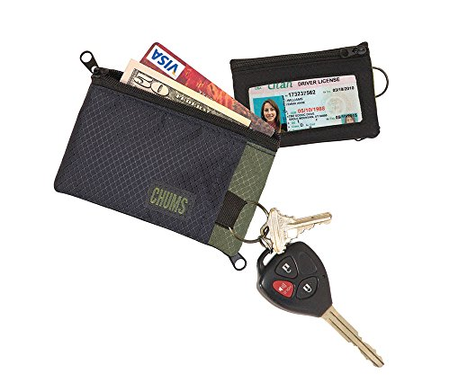 Chums Unisex Chums Surfshort Wallet, Olive/Black, One-Size